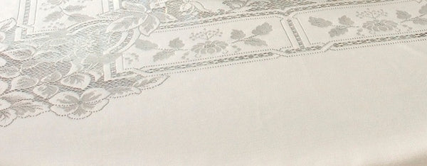 Heirloom Lace Tablecloth - 70 x 90 Oblong/Rectangle - Ecru