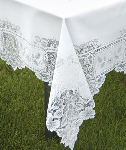 Heirloom Lace Tablecloth   70 X 90 Oblong/Rectangle   Ecru