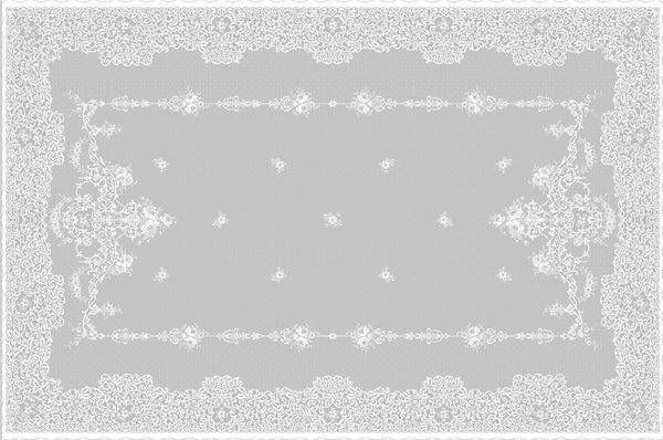 Sold Out - Elgin Scottish Lace Tablecloth - 70 x 108 inches - White