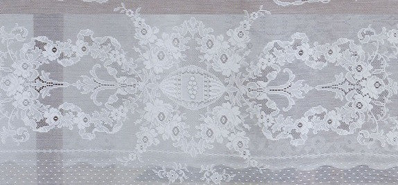 Lydia Scottish Lace Tablecloth - 60 inch Square - White