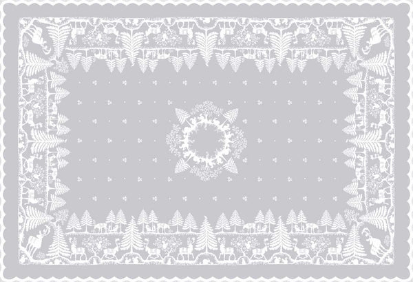 Christmas Moose Holiday Scottish Lace Tablecloths