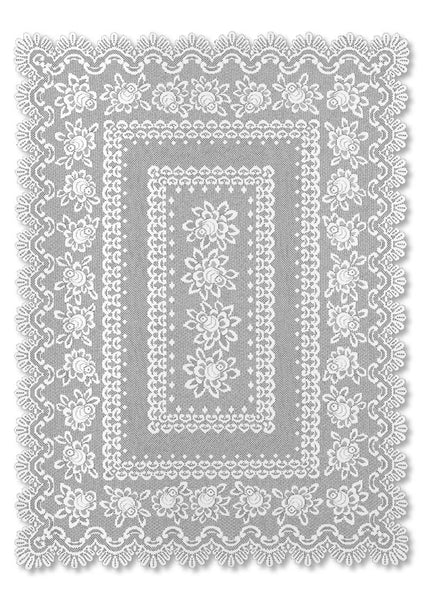 Rose Lace Tablecloth, 52 x 72, Off-White, Oblong, Heritage Lace 56678RW - Sold Out