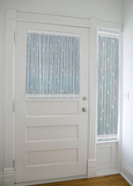 Sand Shell Lace Curtains, Door Panels and Sidelights