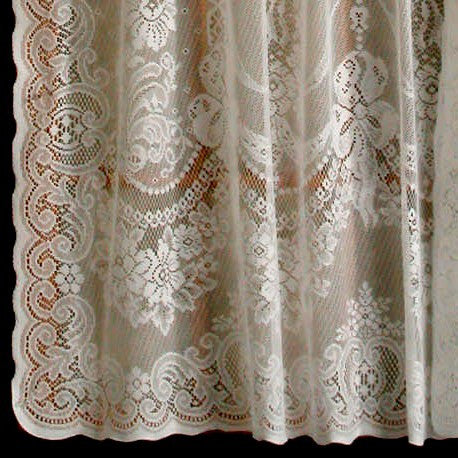 ... Balmore Cotton Poly Lace Door Curtains, White ...