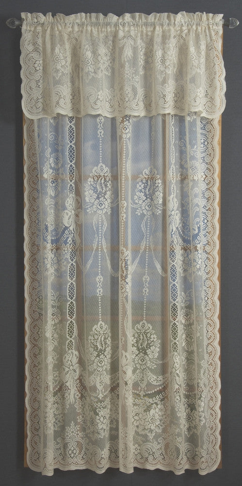 fabric shop panelling curtain garland style laura ribbons white ashley lace curtains bows beatrice panels cotton ready panel