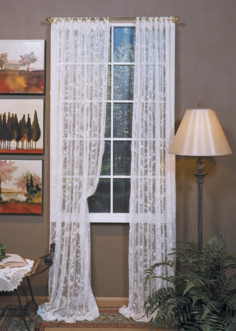 Coventry Lace Curtains - Ring Trim Top and Bottom Hem - Ivory - Sold Out