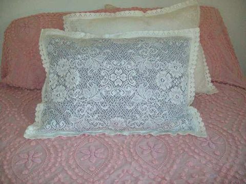 "Pillow Covers - Scottish Lace - 20 x 30"" - Envelope Back - Ivory - Sold Out"