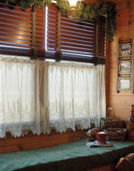 Pinecone Lace Curtains Ecru Tb Stores