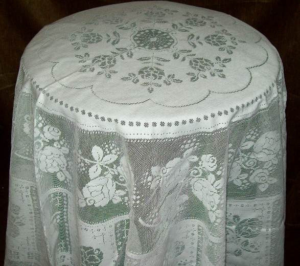"Rosemary Scottish Lace Tablecloth - 70"" Round -  Sold Out"
