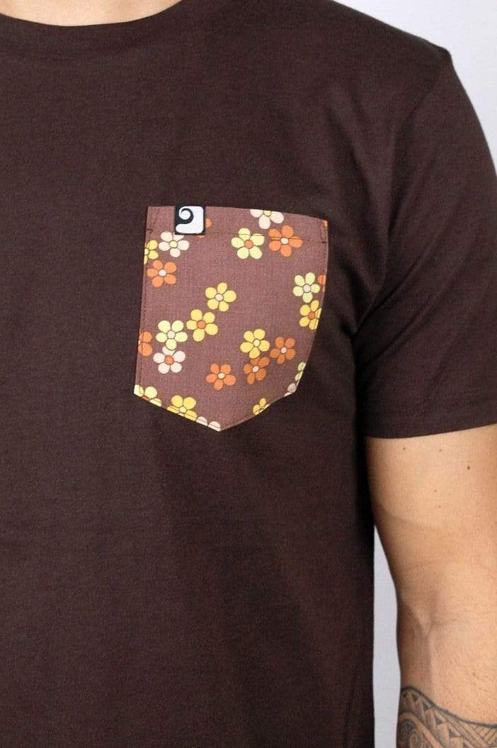 BLOSSOMS POCKET TEE - panamunaproject Ethical, Organic & Sustainable T-shirts