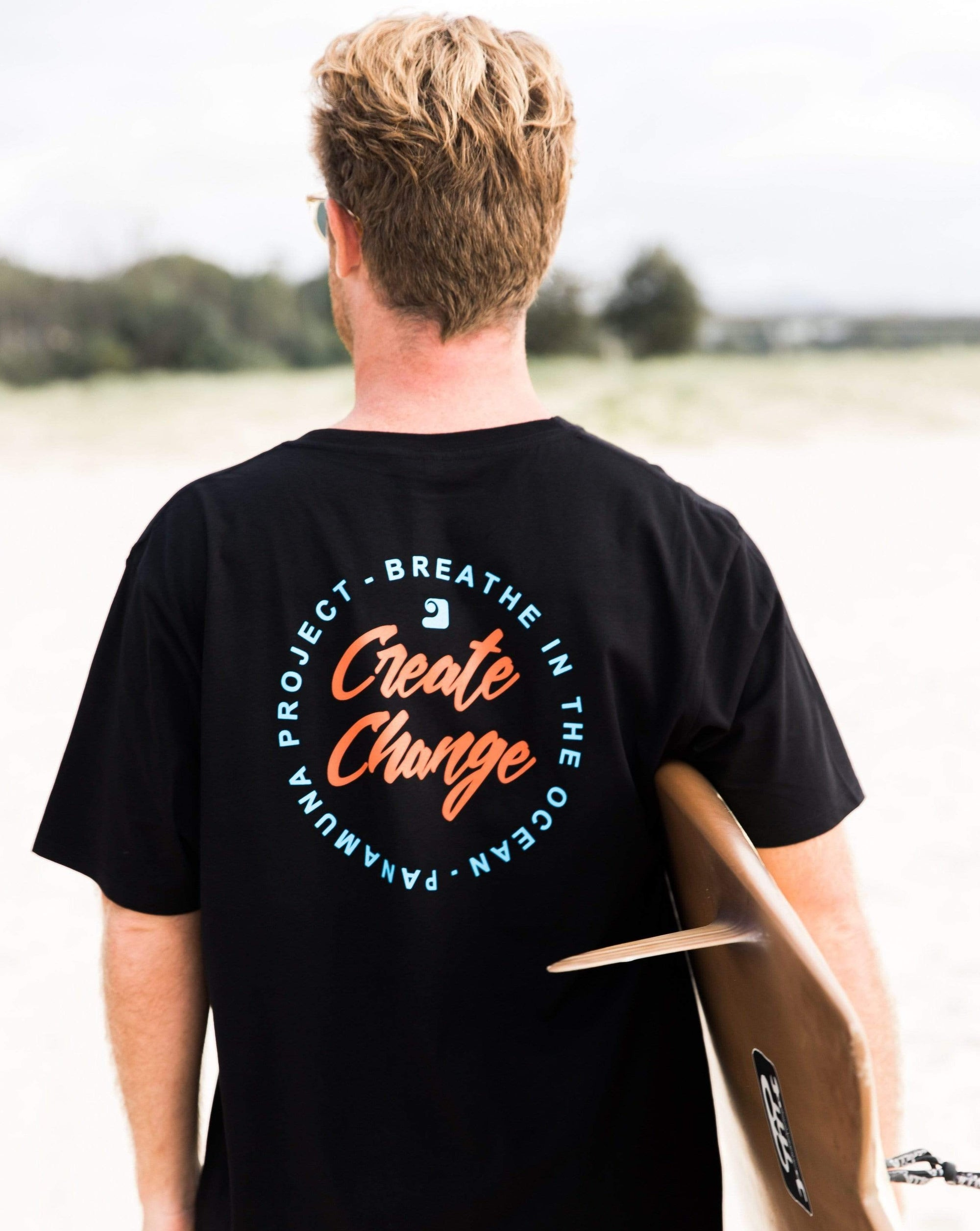 CREATE CHANGE TEE - panamunaproject Ethical, Organic & Sustainable T-shirts