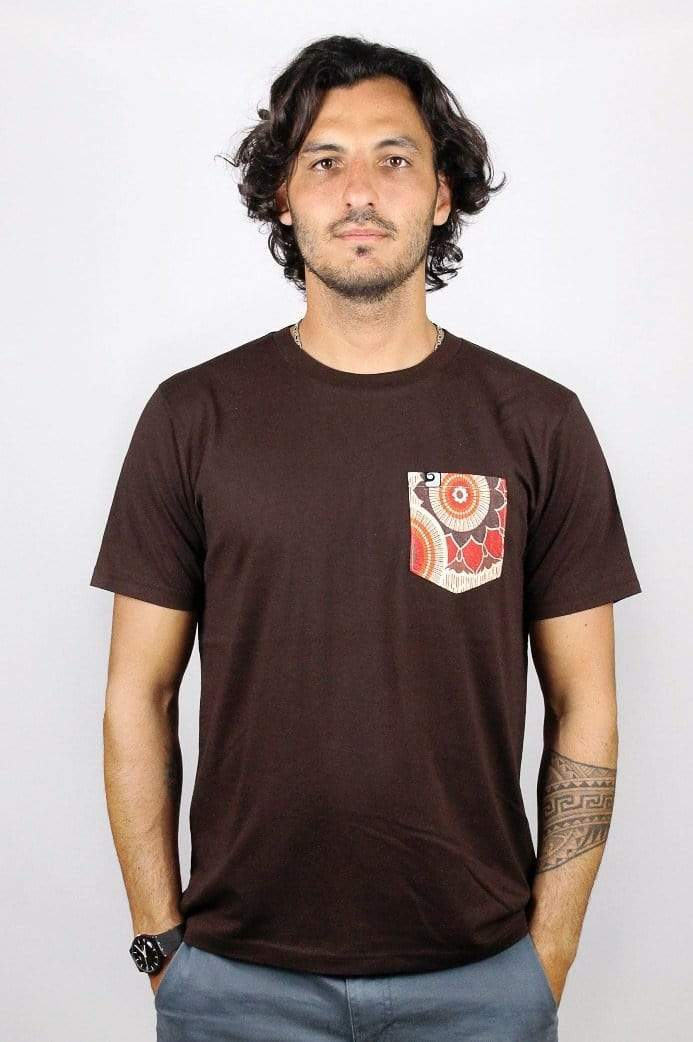 MANDALA POCKET TEE - panamunaproject Ethical, Organic & Sustainable T-shirts