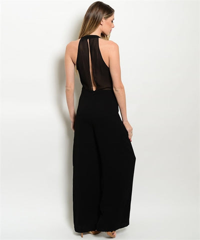 Sheer Back Jumpsuit