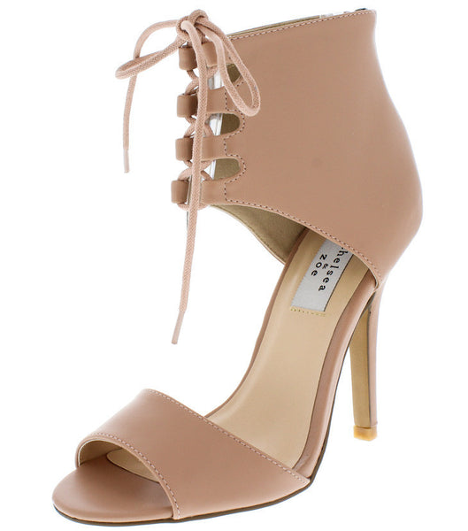 Blush Peep Pump