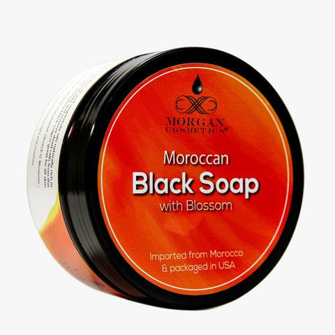Moroccan Black Soap with Orange Blossom 200 gr