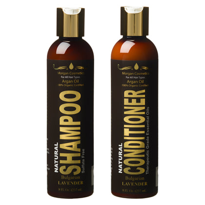 Lavender Argan Oil Sulfate Free Shampoo & Conditioner