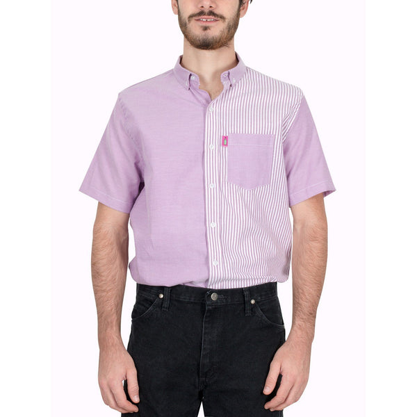 Camisa - Piel De Animal Tropikal Modelo Fifty Purple Swag