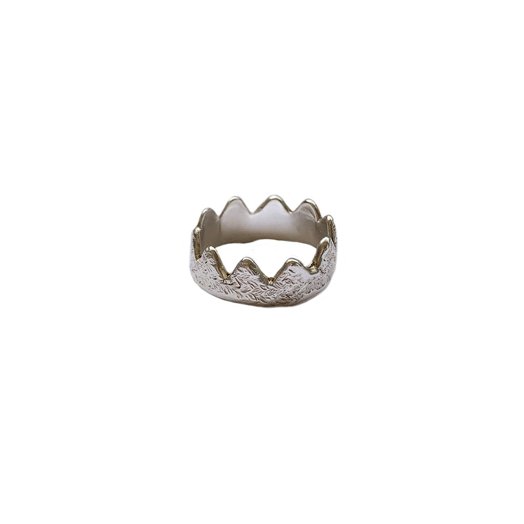 Crown Ring Sterling Silver
