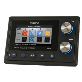Clarion® CMS4 - Marine Black Box Digital Media Receiver With Watertight Commander
