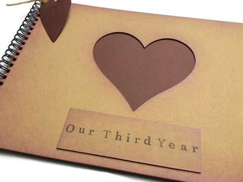 Our second year wedding anniversary scrapbook photo album memory ...