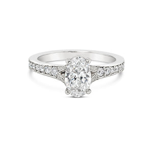 D Internally Flawless Oval Diamond Ring