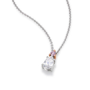 Pink Argyle and White Diamond Pendant