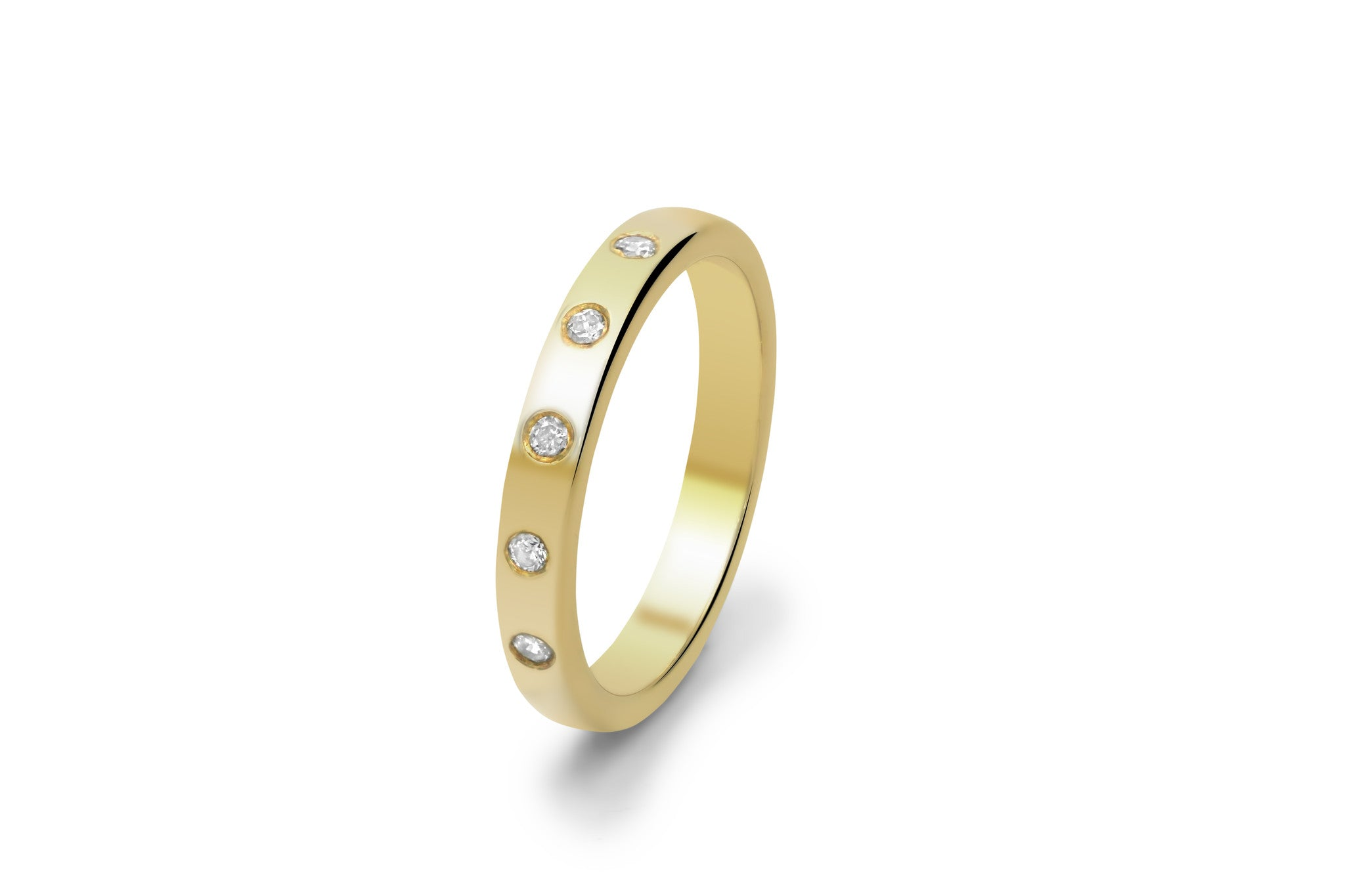 Flush Set Diamond Wedding Ring