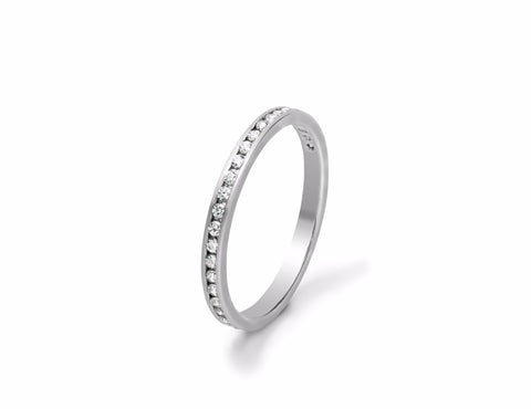 Fine Channel Set Diamond Wedding Ring
