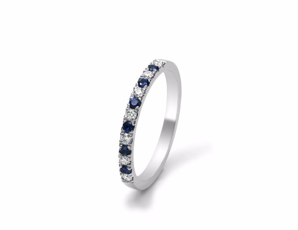 Nova Set Sapphire and Diamond Wedding Ring