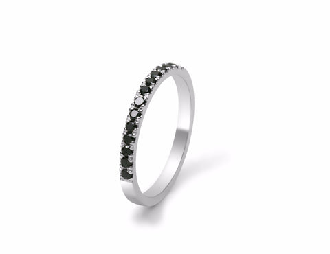 Nova Set Black Diamond Wedding Ring