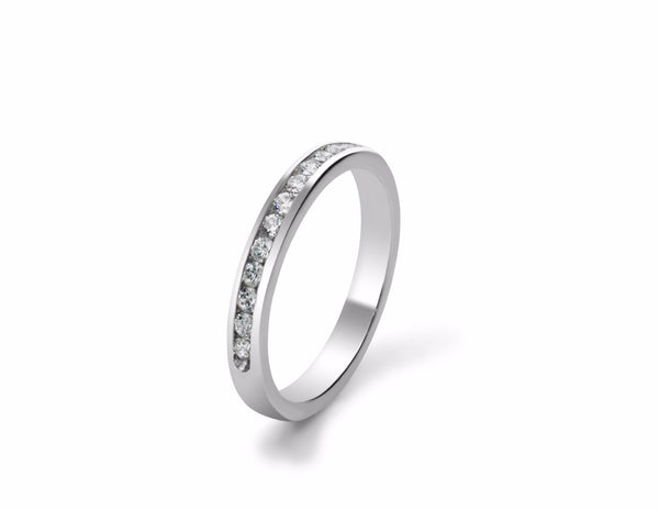 Channel Set Diamond Wedding Ring