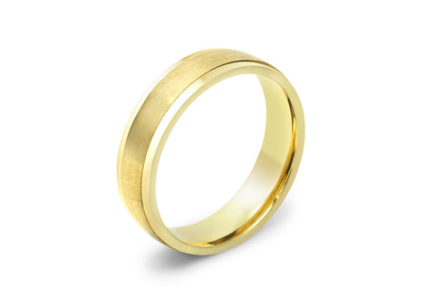 Yellow Gold Mens Wedding Ring