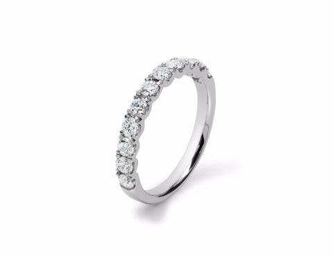 Split Claw Nova Set Diamond Eternity Ring