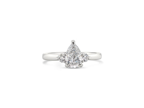 Pear Shape Diamond Trilogy Ring