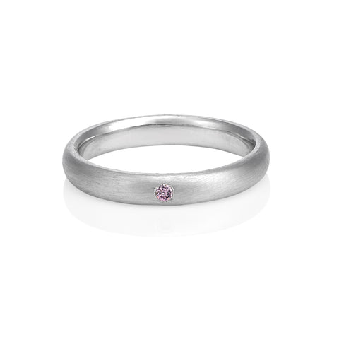Pink diamond band