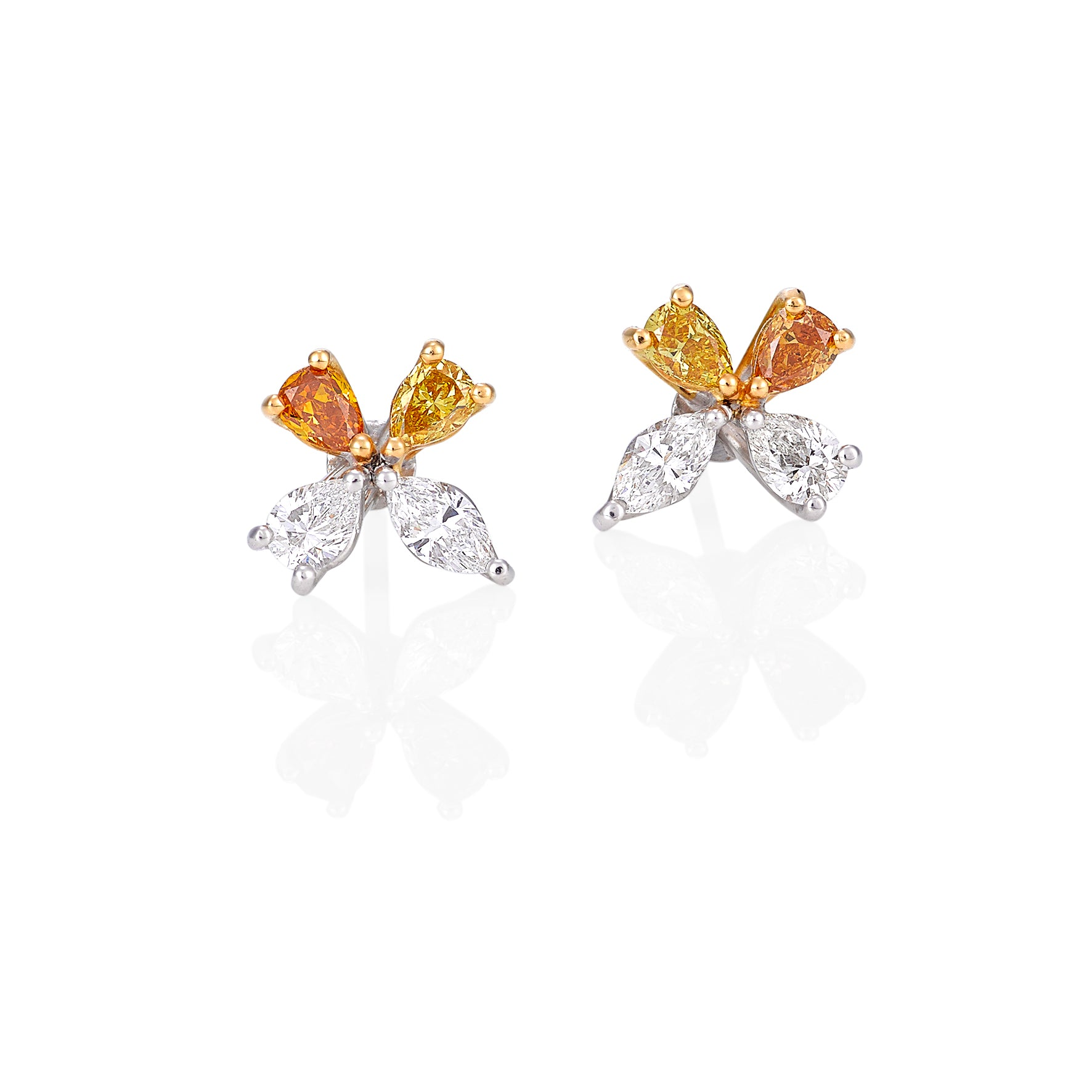 Multi Colour Diamond Studs