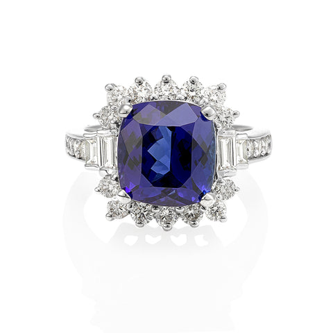 Tanzanite dress ring