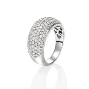Pave Diamond Bombe ring