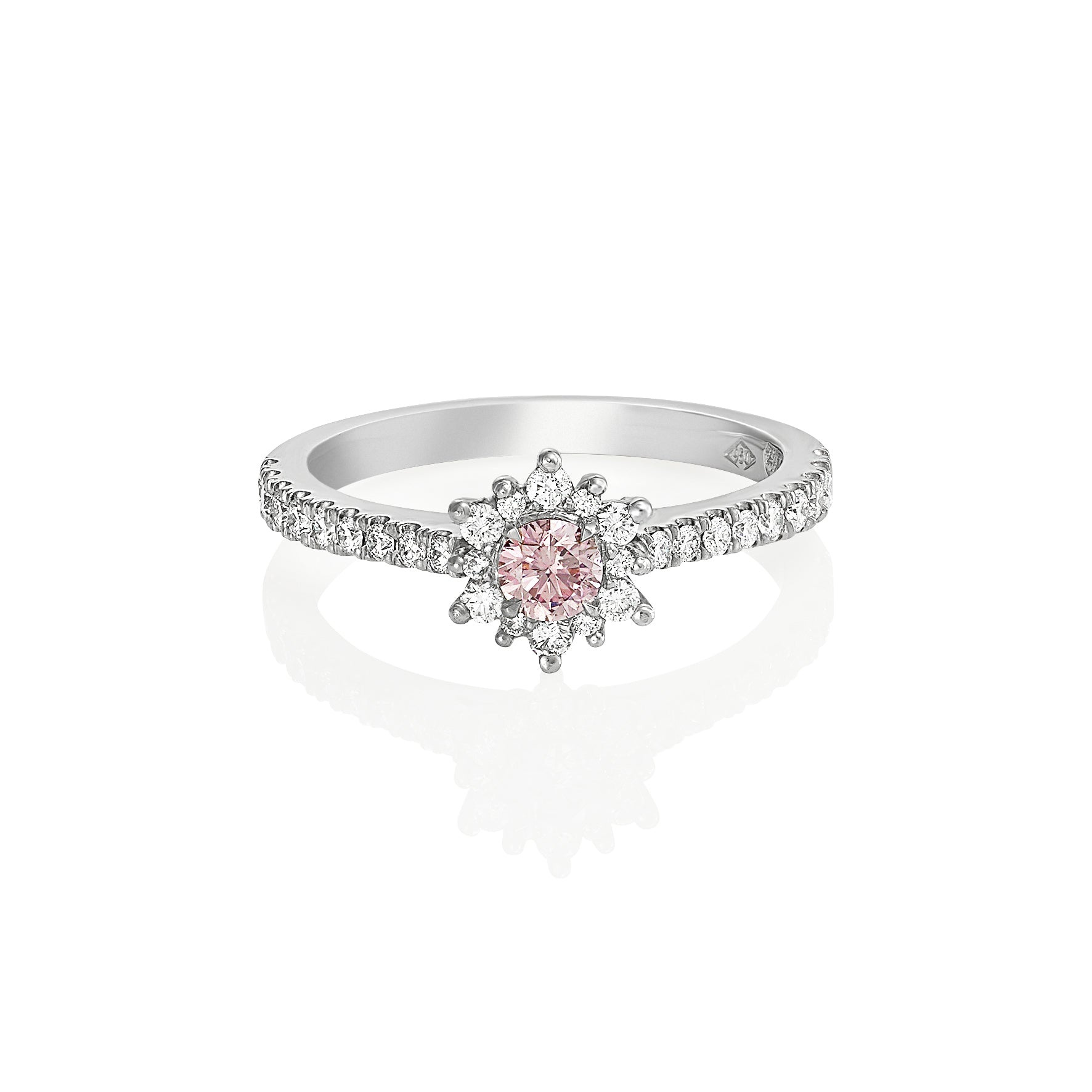 0.14ct 5PR Pink Diamond ring