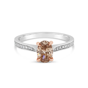 Argyle Champagne Oval Diamond Ring