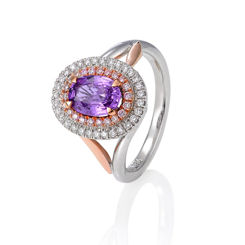 Purple Sapphire Dress Ring