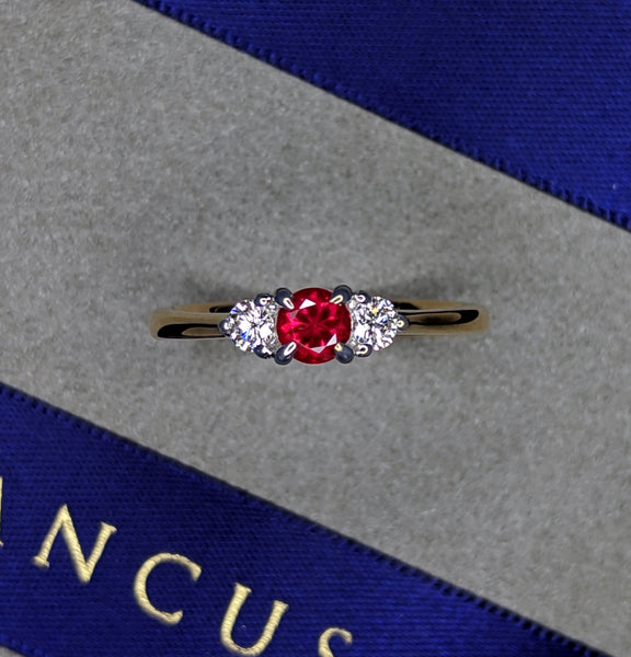 Ruby and Diamond Trilogy Ring