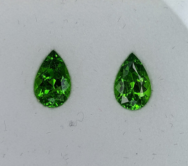 1.71ct Tsavorite Pear shape matched pair