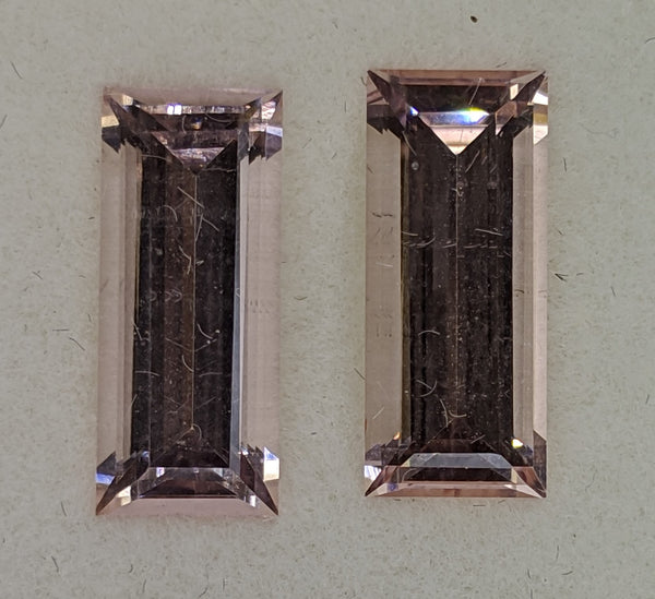 5.94ct Morganite Rectangular Pair