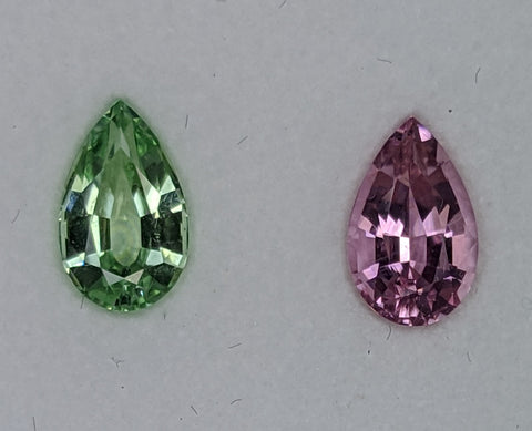 1.75ct Green and Pink Tourmaline