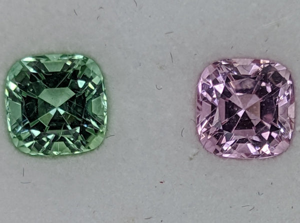 2.01ct Green and Pink Tourmaline