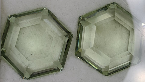 13ct Hexagonal Green Quartz