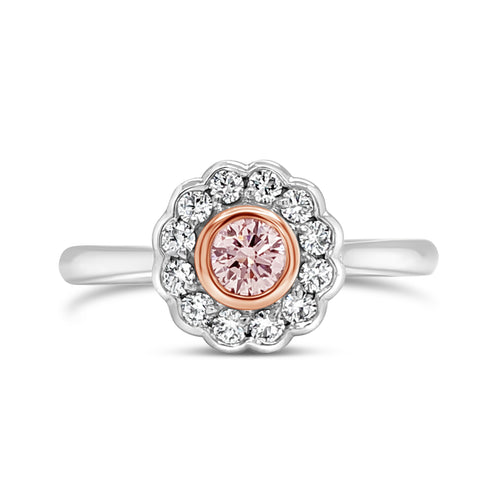 Argyle Pink Round Brilliant Cut Diamond Ring