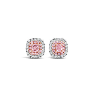 Fancy Orange Pink Earrings