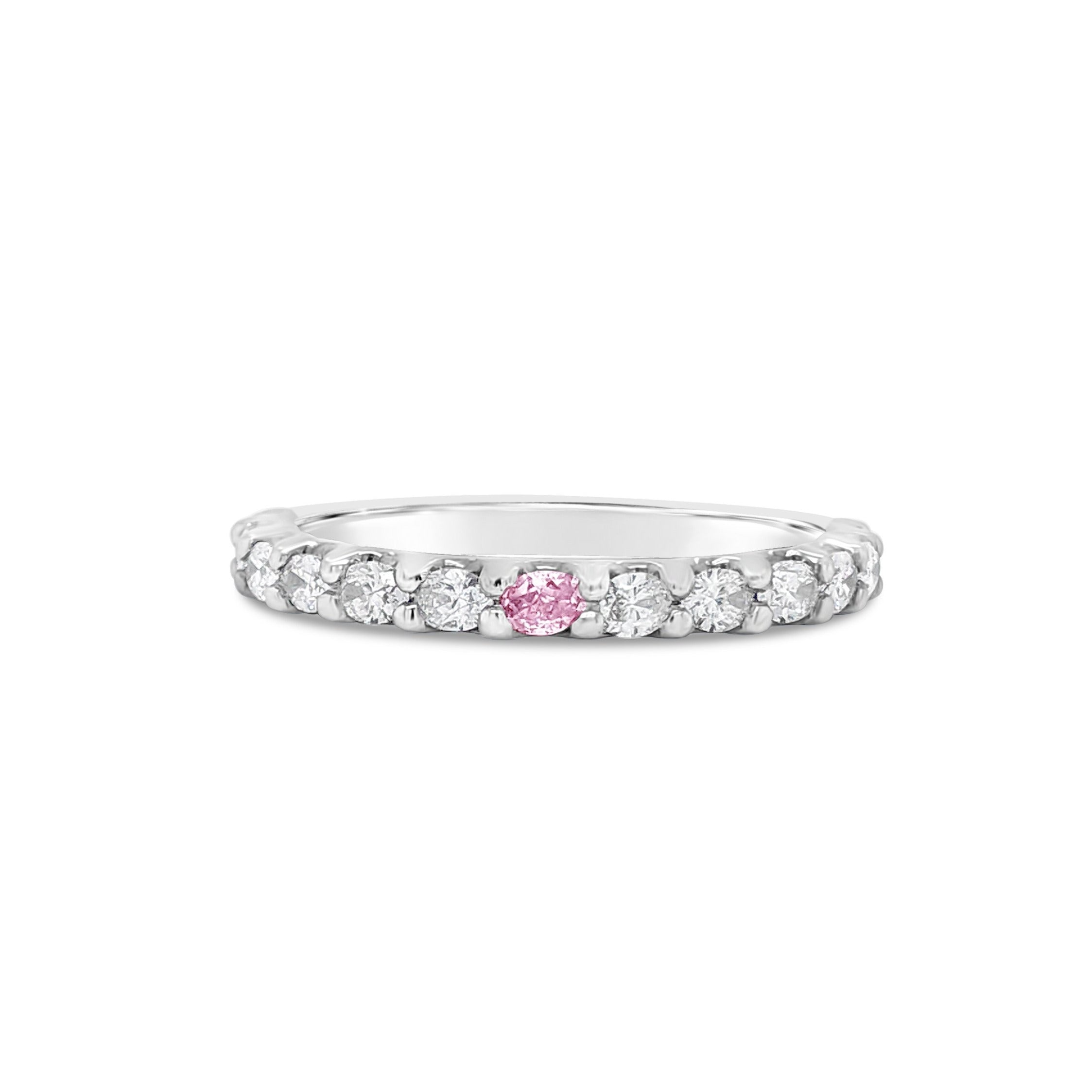 Argyle Pink and White Diamond Oval eternity band